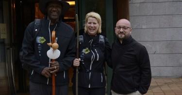 Turismo de Santiago colaboró en este inicio del Camino con un guía